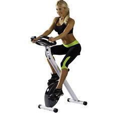 Foldable Indoor Exercise Bike Stationary Fitness Cardio Trainer Portable Folding
