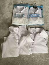 M&S Boys Long Sleeve Regular Fit School Shirts Size 11-12 & 12-13