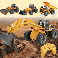 HUINA 1590 1:18 2.4GHz 6CH RTR RC Alloy Excavator Truck Crawler Vehicle Gifts