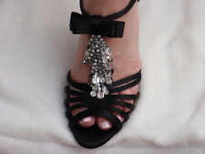 VALENTINO sandals SHOES CRYSTAL PUMPS 37.5 7.5 NEW