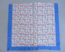 """Vintage Homemade Southwest Pattern Curtains 35.5"""" x 18.5"""" or Fabric Use"""