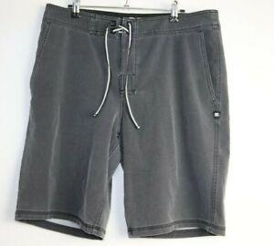 DC Men's Dark Grey Board Shorts Size 34