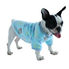 French Bulldog Winter Dog Clothes Soft Flannel Pet Puppy Pajamas Coat Chihuahua