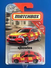 NEW 2018 Matchbox 65th ANNIVERSARY BRITISH 2013 BMW M5 FIRE INSPECTOR mint card!