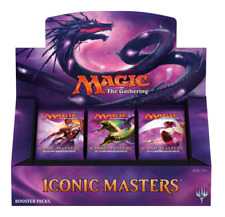 MAGIC THE GATHERING ICONIC MASTERS BOOSTER BOX SEALED IN STOCK NOW READY TO SHIP