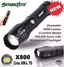 Sky Wolf Eye 5000LM G700 X800 Tactical LED Taschenlampen Zoom Militär Licht Lamp
