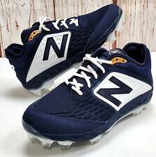 New Balance Navy Blue White Men's Molded Baseball Cleats PL3000n4 Cleat SZ 10.5