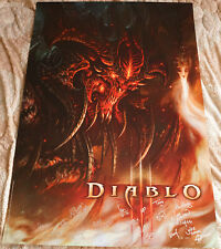 Blizzcon 2010 Official Diablo III 3 Signed Poster