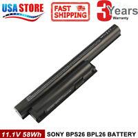 BPS26 Battery for Sony VAIO VGP-BPS26 VGP-BPS26A VGP-BPL26 VPC-EH VPC-CA COOL