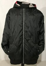 QUICKSILVER Black Full Zip Up Hoodie Jacket Men's Size L