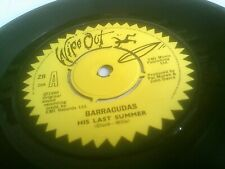 "Barracudas His Last Summer Rare 7"" 1980 UK A-2U/B-1U Wipe Out Z 8 EX Audio"