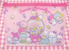 Sanrio Characters Mix PVC Flat Pouch  Japan 2018 Kiki Lala My Melody Hello Kitty