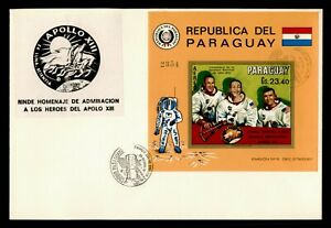 DR WHO 1970 PARAGUAY FDC SPACE IMPERF S/S  C239023