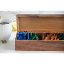 Functional Townhouse Tea Box Environmentally Friendly Hard Wood 5 Compartments