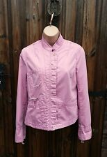 WOMEN'S FRENCH CONNECTION FCUK UK 10 PINK SHORT BIKER STYLE FITTED JACKET COAT