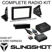 Slingshot Polaris Complete Dash Kit W/ Radio Cover for Double Din Stereo & Wires