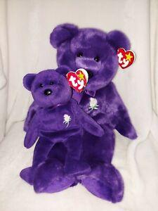 Ty Beanie Buddy Princess Bear Large and mini bear
