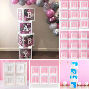A-Z Letter Transparente Baby Boxes Shower Balloons Packing Birthday Party Decor