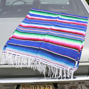 Mexikanische Sarape Decke Serape Blanket Streifen Hot Rod Biker Rockabilly Bund