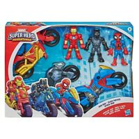 Marvel Super Hero Adventures 3 Pack Iron Man Black Panther SpiderMan SHIPS TODAY
