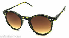 Round Keyhole Bridge Sunglasses Vintage Retro Fashion Style #151 Tortoiseshell