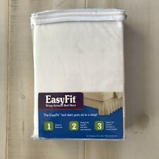 New Wrap Around Solid Ruffled Bed Skirt - EasyFit Solid White Twin Full