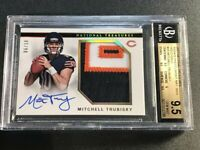 MITCHELL TRUBISKY 2017 NATIONAL TREASURES GOLD PATCH AUTO /10 ROOKIE BGS 9.5 10
