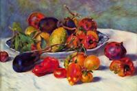 Pierre Auguste Renoir Still Life with Fruit - Poster 24x36 inch