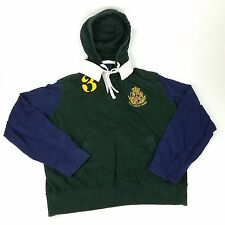 Vintage POLO Ralph Lauren Mens Rugby Shirt Pullover Hoodie Size XL #3 Crest