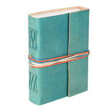 Fair Trade Handmade Leather 3-string Turquoise Leather Journal OTN - 2nd Quality