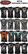 Spiral Direct Metal Sin mangas/Camiseta De Tirantes/Calavera/Fire/Rock/metal/
