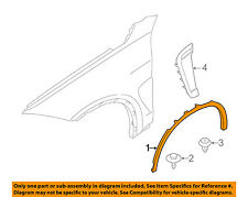 BMW OEM 14-16 X5-Front Fender Flare Wheel Well Arch Molding Right 51777303392