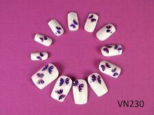 Pre Glued French Acrylic False Nail Tips Art Nails N-T-VN230