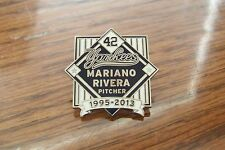 Mariano Rivera 1995 2013 NY New York Yankees lapel pin #42