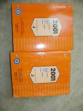 2001 Chevy Cavalier Pontiac Sunfire Original Service Manuals
