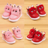Kid Girl Cartoon Fashion Casual Leather Sports Sneakers Shoes Zipper Ankle Boots