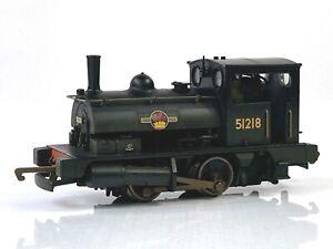 HORNBY 00 GAUGE - R2453 - BR BLACK 0-4-0ST 'PUG' 51218 WEATHERED - BOXED