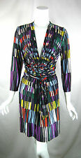 BCBG MAX AZRIA Multi Colored Belted Dress Size Medium