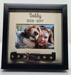 Pet Memorial Dog Cat Collar Photo Frame Personalised Pet Memorial Keepsake Gift