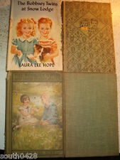 Lot of 9 Bobbsey Twins by Laura Lee Hope  1928 1940's 1950's 1960's