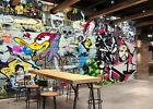 3D Graffiti Pattern 3 Wall Paper Wall Print Decal Wall Deco Indoor AJ Wall Paper