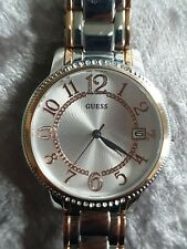 Ladies Rose Gold Plated & Stainless Steel GUESS Quartz Bracelet Watch W0929L3