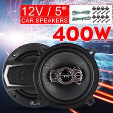 "2PCS 12V 5"" 400W 4-Way Mini Car Audio Speaker Coaxial SubWoofer Stereo Horn"