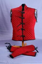 Medieval Costume Gambeson Reenactment Theater Red Color Nice Style