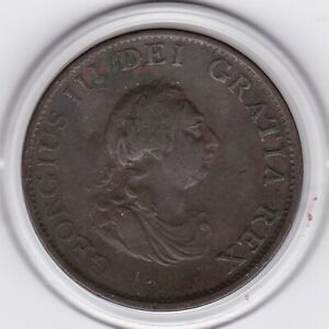 1799   King  George   III    Half  Penny   Copper  Coin