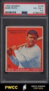 1933 Goudey Babe Ruth #149 PSA 4.5 VGEX+ (PWCC-A)