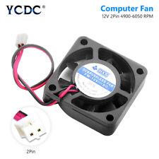 40x40mm 2 Pin Black Desktop CPU Heatsink Cooler Cooling Fan DC 12V 4010 Model 7