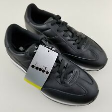 Diadora Women's 8 Men's 6 Shoe Damen Sneaker Speed Black Leather NEW