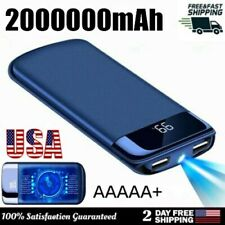 2USB Power Bank 2000000mAh Portable External Travel LED LCD Battery Pack Charger