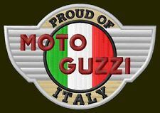 "MOTO GUZZI PROUD EMBROIDERED PATCH ~3-3/4"" x 2-3/4"" MOTORCYCLE BORDADO AUFNÄHER"